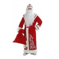 """Карнавальный костюм """"Дед Мороз"""" для взрослых аппликация красный арт.146 р.54-56"""