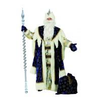 """Карнавальный костюм """"Дед Мороз королевский"""" синий для взрослых арт.189-1 р.54-56"""