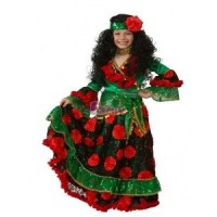 "Карнавальный костюм ""Цыганка-гадалка"" арт.5101-4 Бал-маскарад зеленый"