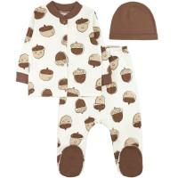 Комплект детский (кофточка, ползунки и шапочка) арт. 6001204603