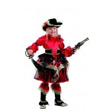 """Карнавальный костюм """"Пиратка"""" красная арт. 455"""