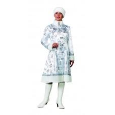 """Карнавальный костюм """"Снегурочка сатин белая"""" для взрослых арт.190"""