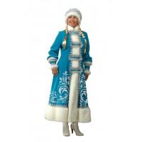 """Карнавальный костюм """"Снегурочка"""" аппликация для взрослых арт.151"""