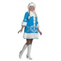 """Карнавальный костюм """"Снегурочка вышивка"""" для взрослых арт.1113"""