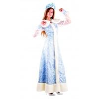 """Карнавальный костюм """"Снегурочка шелк"""" для взрослых арт.177"""